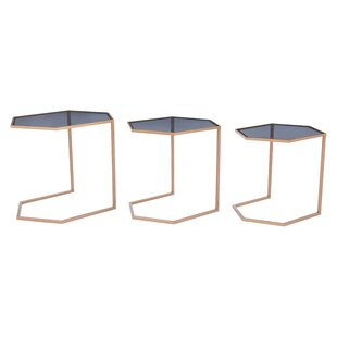 Compare Leaman 3 Piece Nesting Table Set by Everly Quinn