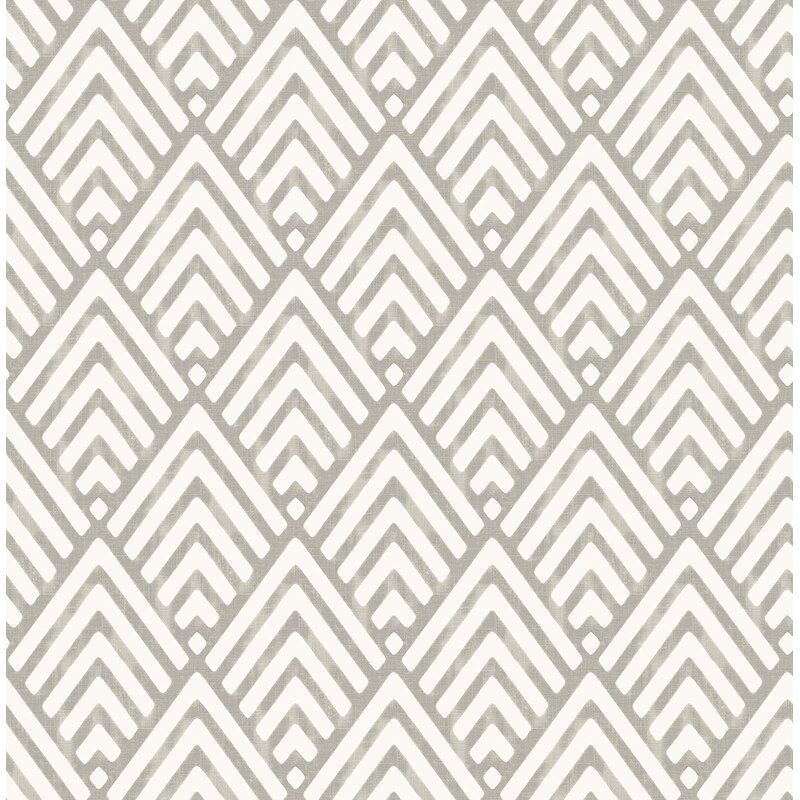 "Alaya 33"" x 20.5"" Geometric Wallpaper Roll"