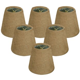6 Burlap Empire Lamp Shade (Set of 6)
