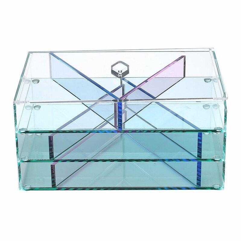 Ikee Design Glasslike Jewelry And Makeup Display Cosmetic Organizer Wayfair