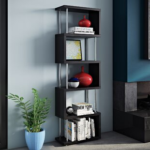 Aaronsburg Shelf Snake Geometric Bookcase by Wade Logan