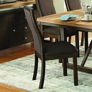 Delwood Upholstered Dining Chair (Set of 2) Loon Peak