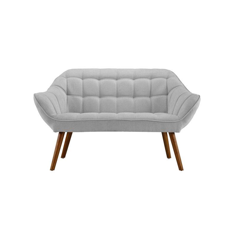 Turn on the Brights  Herrald Modern Tufted Loveseat Upholstery: Light Gray