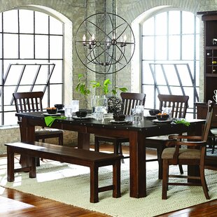 Hakana Extendable Dining Table Loon Peak