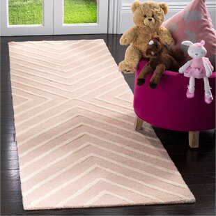 Brenner Hand-Tufted Wool Pink/Ivory Area Rug
