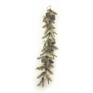 72 Trousseau Vintage Glitter Pine Garland by Loon Peak
