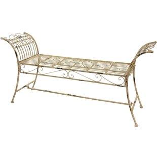 Rustic Iron Garden Bench by Oriental Furniture