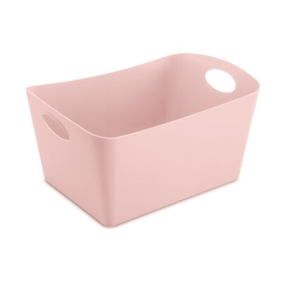 Turn on the Brights Rectangular Plastic Storage Bin Color: Pink, Size: 9.3 H x 19 W x 12.2 D