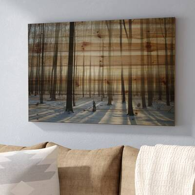 U0027Papineauu0027 By Parvez Taj Painting Print On Natural Pine Wood. U0027
