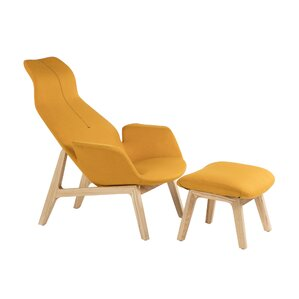 Neville Lounge Chair and Ottoman by Galla Home
