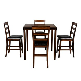 Addilyne 5  Piece Counter Height Dining Set