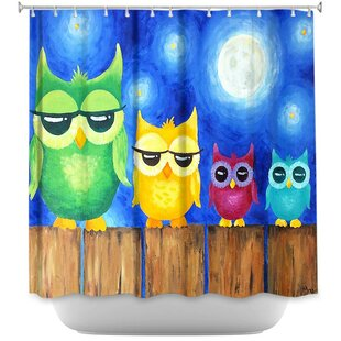 Holter Owls on a Fence Single Shower Curtain