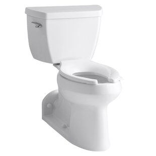Kohler Barrington Comfort Height Two-Piece Elongated 1.0 GPF Toilet with Pressure Lite Flushing Technology and Left-Hand Trip Lever