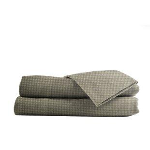 La Rochelle Heather Ground Flannel Gingham Cotton Sheet Set