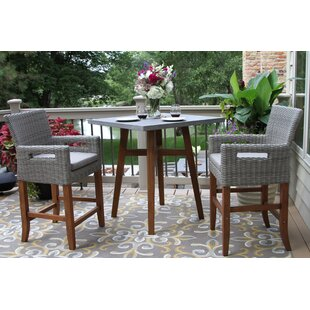 Jack 3 Piece Bistro Set with Cushions