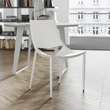 Sloane Leather Metal Side Chair by Modloft Black
