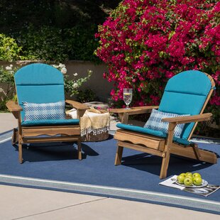 Loon Peak Laffey Solid Wood Folding Adirondack Chair (Set of 2)