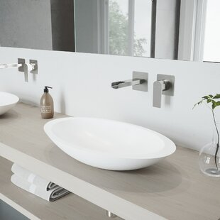 Compare prices Wisteria Stone Oval Vessel Bathroom Sink with Faucet By VIGO