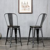 Kaczor Bar & Counter Stool (Set of 2) by Williston Forge