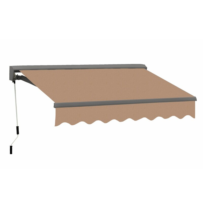 Advaning Classic Metal Retractable Standard Patio Awning ...
