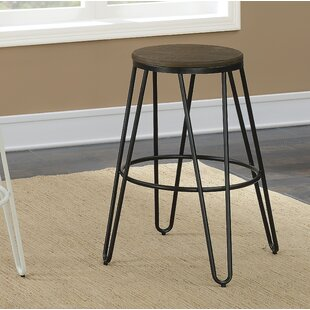 Gilland Industrial 26 Bar Stool (Set of 2) Gracie Oaks