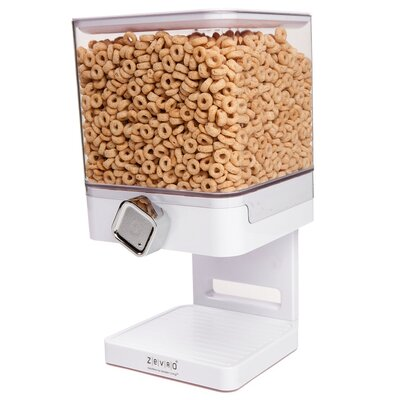 Zevro Single Canister Compact Edition 17.5 Oz. Cereal Dispenser Colour: White