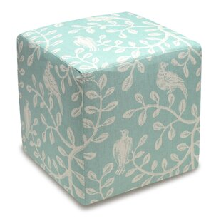 Birds and Vines Cube Ottoman