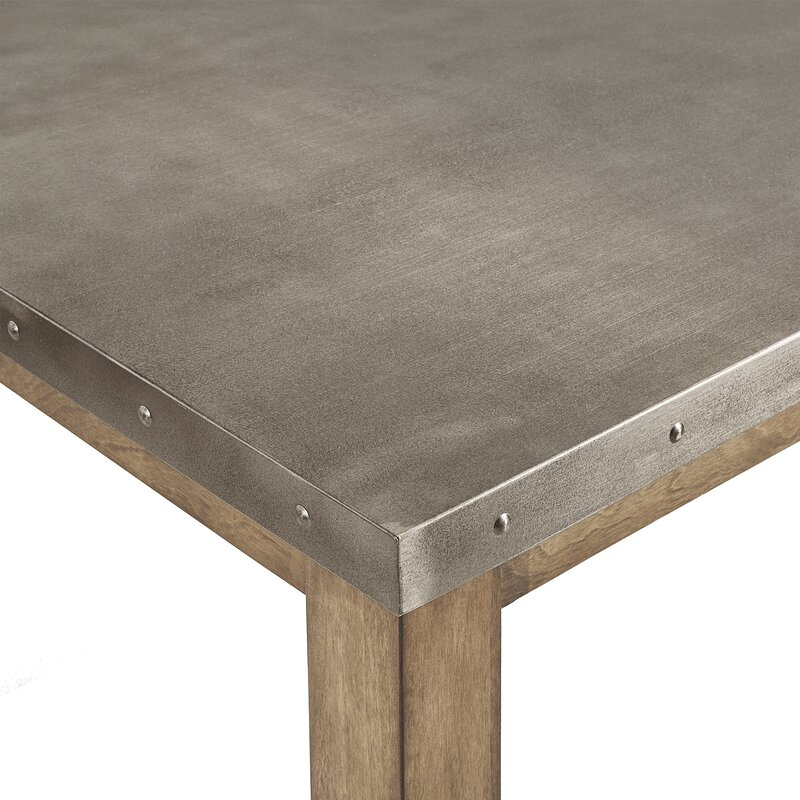 Lark Manor Stainless Steel Top Dining