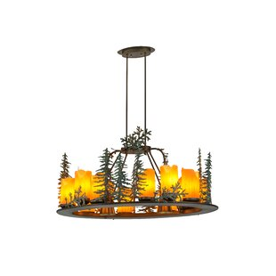 Meyda Tiffany Greenbriar Oak 27-Light Wagon Wheel Chandelier