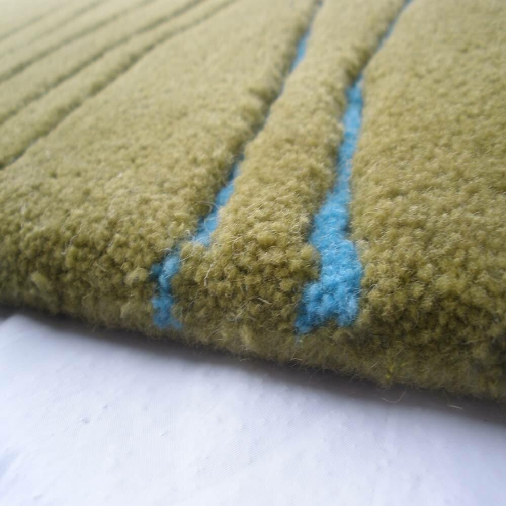 Brayden Studio Novick Jet Stream Hand Tufted Wool Brown Area Rug Wayfair