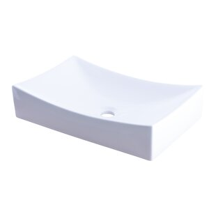 Order Ceramic Rectangular Vessel Bathroom Sink By Novatto