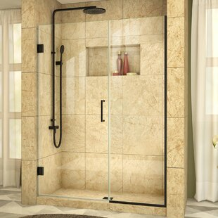 Unidoor Plus 52.5 x 72 Hinged Frameless Shower Door with Clearmax? Technology by DreamLine