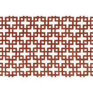 Best Dane Ivory / Rust Rug By Wrought Studio