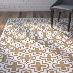 Saulsberry Tan/Ivory Indoor/Outdoor Area Rug by Wrought Studio