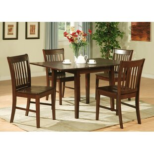 Phoenixville 5 Piece Solid Wood Breakfast Nook Dining Set by Three Posts