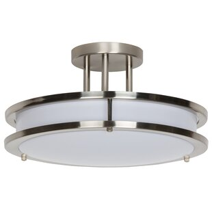 Denman LED Semi Flush Mount by Winston Porter