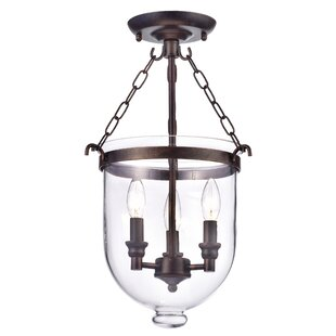 Doveton 3-Light Semi Flush Mount by Gracie Oaks