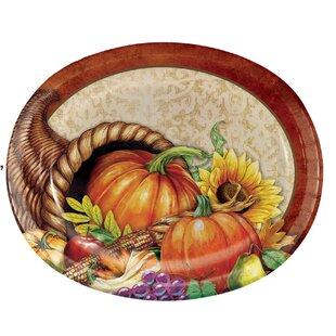 Maja Thanksgiving Paper Dinner Plate (Set of 24)