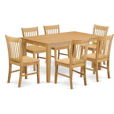 Smyrna 7 Piece Dining Set Charlton Home Color: Oak