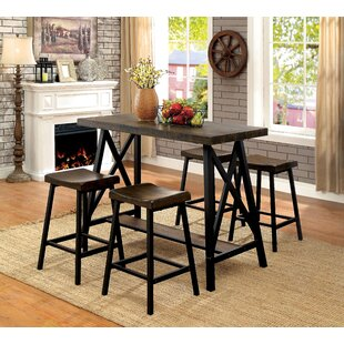 Mount Shasta 5 Piece Pub Table Set Loon Peak