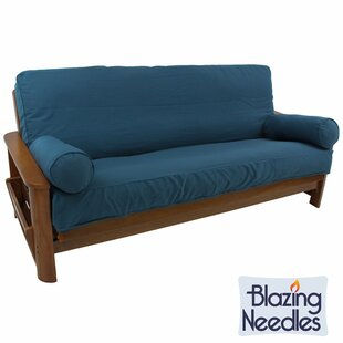 Affordable Premium Box Cushion Futon Slipcover Set by Blazing Needles Reviews (2019) & Buyer's Guide