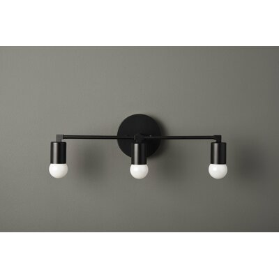 Kistler 3-Light Vanity Light Wrought Studio Finish: Matte Black