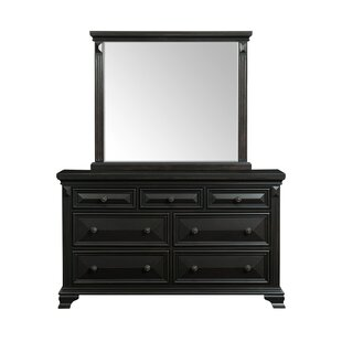Best Price Banwell 7 Drawer Dresser with Mirror by Canora Grey