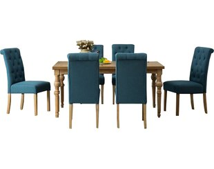Atticus 7 Piece Solid Wood Dining Set Mistana