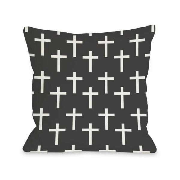 One Bella Casa All Over Cross Print Throw Pillow Wayfair