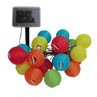 Solar 19 ft. 20-Light Lantern String Light by Smart Solar