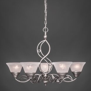 Thomason 5-Light Shaded Chandelier by Fleur De Lis Living