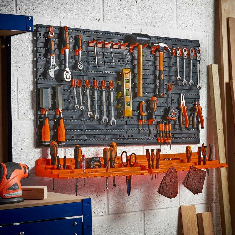 Vonhaus Vonhaus Garage Wall Tool Rack Pegboard Shelf
