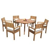Gabilan 7 Piece Teak Dining Set