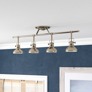 Beachcrest Home Dollinger 4-Light Fixed Track Lighting Kit